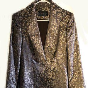 Richard Tyler Couture Brown Silk Jacket Blazer 12
